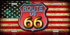 PLAQUE DE VOITURE AMERICAINE-ROUTE 66-NEON - NEUVE  DECORATION USA/ BIKER