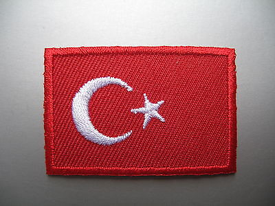 Turkey Flag Patch Iron Sew On Embroidered Badge Turkish T Shirt Bag Hat Applique