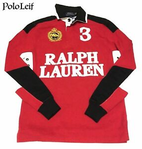 145-POLO-RALPH-LAUREN-MENS-RUGBY-SWEATSHIRT-RED-BLACK-EXTRA-SMALL
