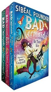 Sibeal-Pounder-Bad-Mermaids-3-Books-Collection-Set-Bad-Mermaids-on-Thin-Ice