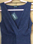 Kaleidoscope Sz 12 Navy Blue White Polka Dot Spot Layered Frill Skirt DRESS £69