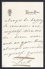 Prince Francis Duke of Teck Love Letter Father of Queen Mary Signed Autograph