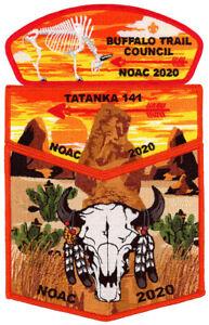 Boy-Scout-Order-of-the-Arrow-Tatanka-Lodge-141-OA-Flap-CSP-NOAC-2020-Patch-Set