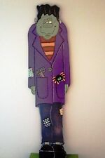 """HALLOWEEN PRIMITIVE WOOD CRAFT PATTERN-""""FRANKIE"""" -48"""" TALL (Use indoor or out)"""