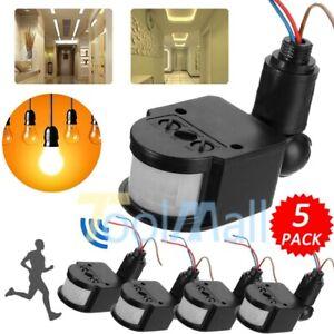 LOT-12M-180-Security-PIR-Infrared-Motion-Sensor-Detector-Wall-LED-Light-Outdoor