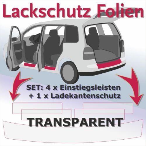 VW UP 5Tuerer  SparSet Ladekantenschutz Einstiegsleisten Lackschutzfolie transp