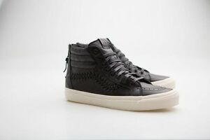 6b3b240f38ff Vans Men Sk8-Hi Zip Weave DX - Leather black VN08GSL3A