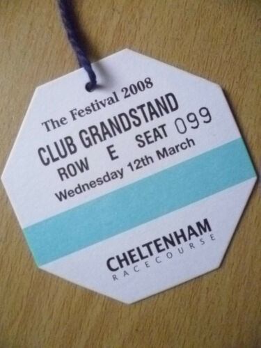 Pass CHELTENHAM RACE COURSE PASS, CLUB GRANDSTAND, Festival 2008