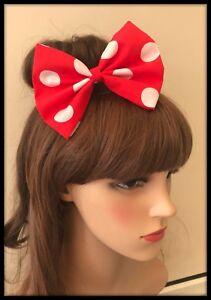 Red Polka Dot Headband Bandana Hairband Hair Tie Band Scarf Minnie Mouse Dress