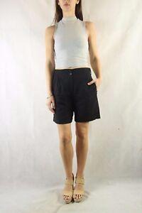 REISS-Black-Wool-Blend-Soft-Tailored-Shorts-Size-UK-6-US-2