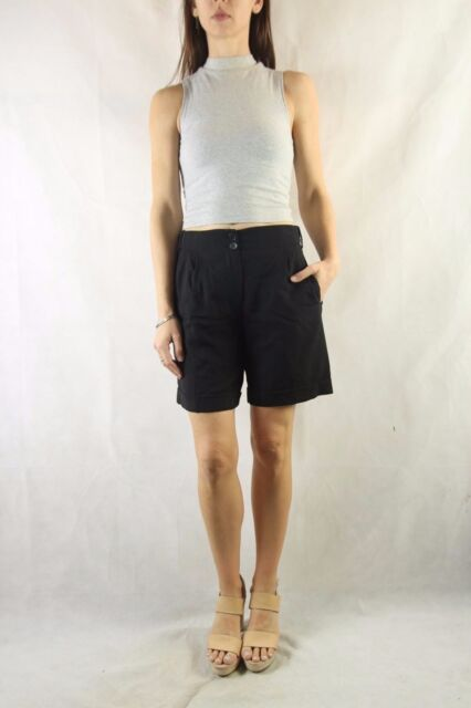 REISS Black Wool Blend Soft Tailored Shorts Size UK 6 / US 2