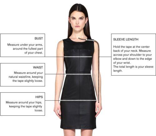 lamsvacht Aangepaste gestikte vrouwen echte Shirt voor Top trendy lederen Ygyf7b6