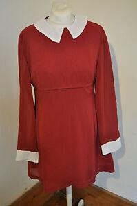 Mod-dress-1960s-vintage-inspired-burgundy-amp-white-dress-by-Pop-Boutique