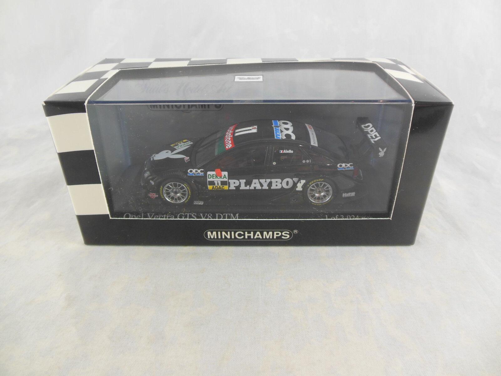 Scarce Minichamps 400 054611 Opel Vectra GTS V8 2005 DTM Team OPC Playboy Aiello