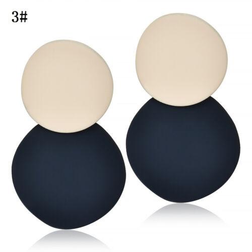 Fashion Women Resin Acrylic Fun Geometric Dangle Drop Statement Earrings Jewelry