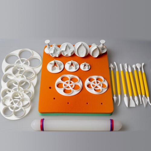 Torten Modellier u Borten Wekzeug Set Fondant Modellierstab Borten Ausstecher