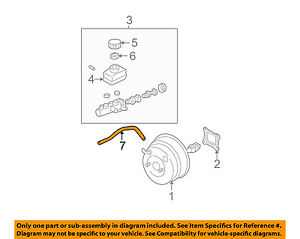 image is loading subaru-oem-02-07-impreza-vacuum-hose-26194fe200