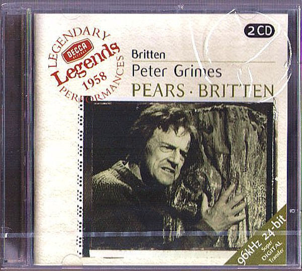 BRITTEN: PETER GRIMES Peter Pears Claire Watson David Kelly COVENT GARDEN 2CD