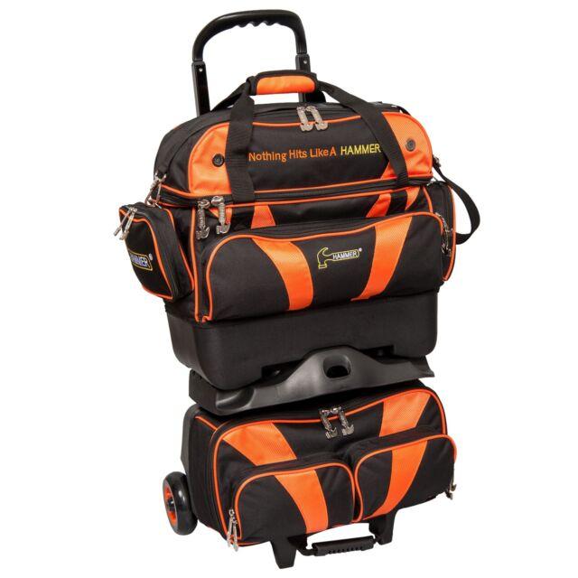 Hammer 4 Ball Stackable Bowling Bag Color Black Orange