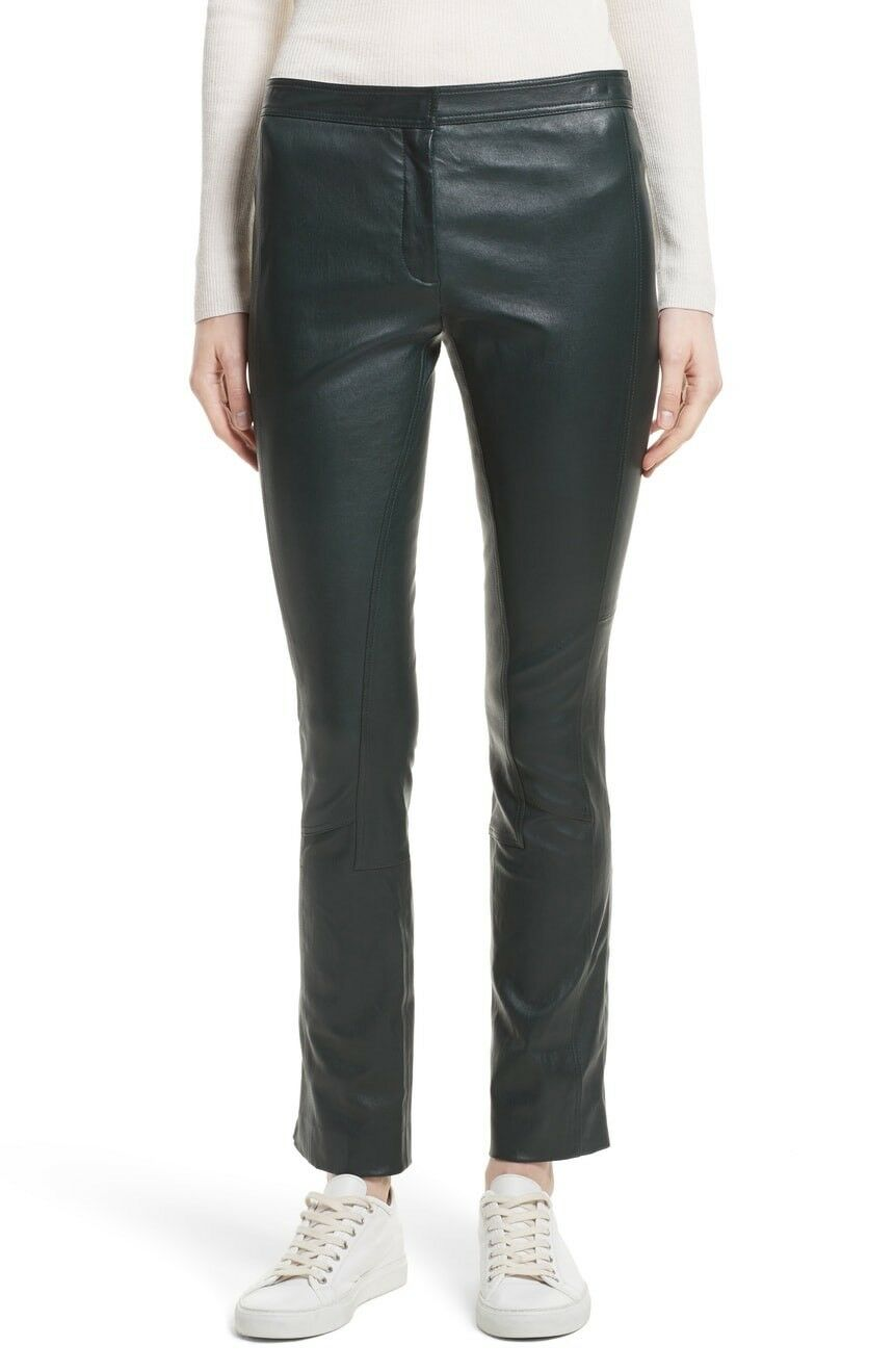 NWT Theory Bristol Leather Pants Größe 10 Retail  1095.00