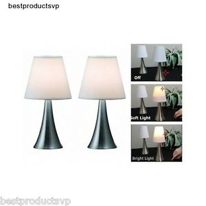 Image Is Loading Modern Bedside Table Lamps Bedroom Touch Pair Reading