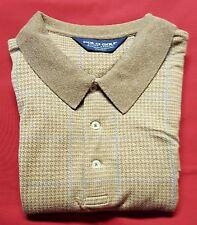 POLO RALPH LAUREN GOLF Men's Beige/Blue Cotton Short Sleeve 3-Btn Polo Shirt XL