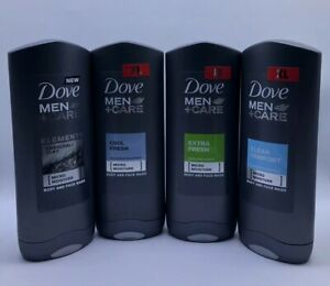 Dove Men Care Body Face Moisture Wash Clean Comfort 4 Pk Combo Set 400ml Each Ebay