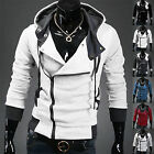 Men's Assassins Creed 3 Desmond Miles Costume Hoodie Cosplay Coat Jacket Outwear