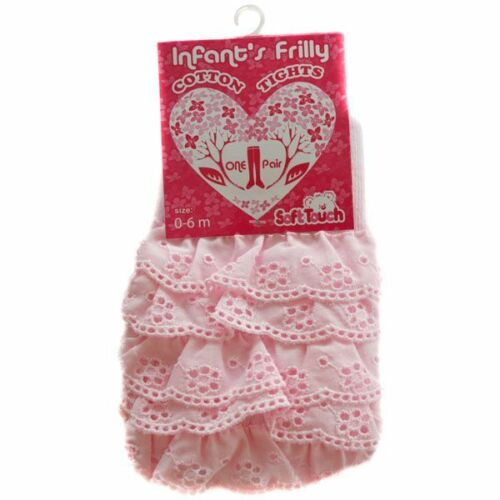 Baby girls frilly back thights Pink//White//Cream