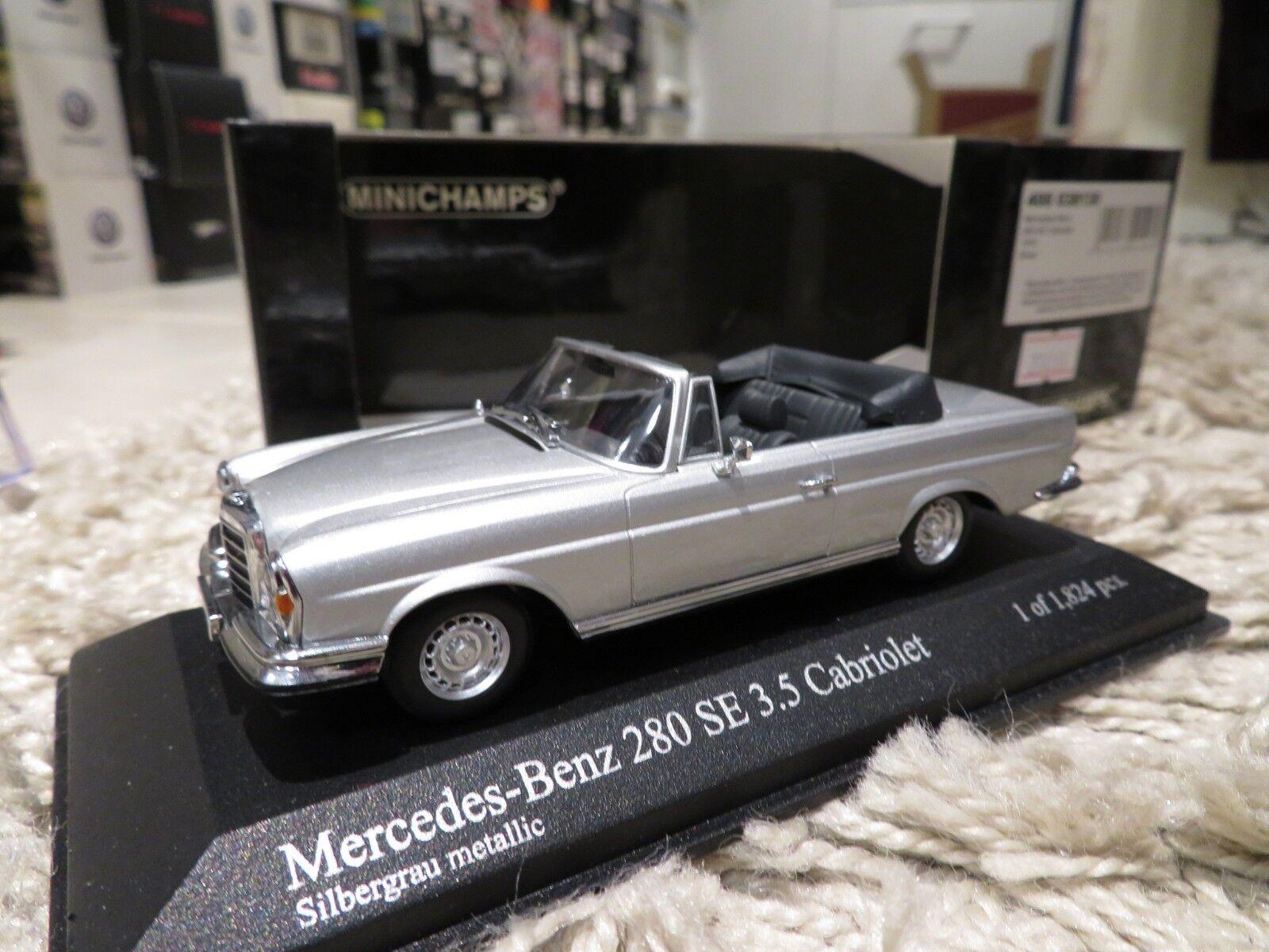 1 43 MINICHAMPS MERCEDES BENZ 280 SE cabriolet (1970) Diecast