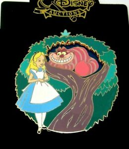 Rare Le Disney Auction Pin Alice In Wonderland Disappear Cheshire Cat Spinner Ebay