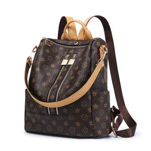 Women-Backpack-Schoolbag-Bookbags-Travel-Handbags-Girls-Satchel-Leather-Rucksack