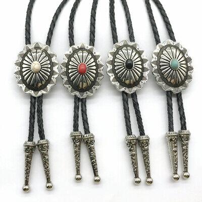 KeCol Mens Celtic Oval Native American Indian Vintage Stone Bolo Tie Necktie