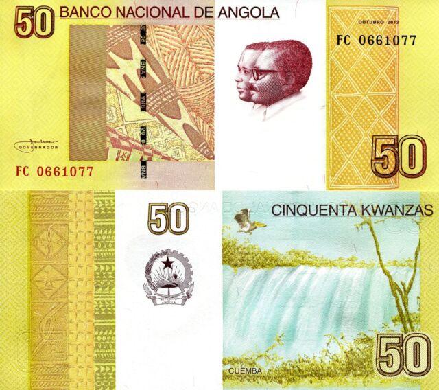 ANGOLA 50 Kwanzas Banknote World Paper Money UNC Currency Pick p-152 Bill Note