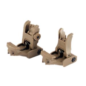 TAN 71L Front Rear Flip-up Folding Sight Fit  20mm Rail Hunting