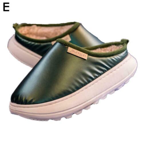 Unisex Women Men Winter Slippers Casual Waterproof Warm Slippers Z8I0