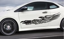 """Universal Car pinstripe Racing side graphics decals 56"""" x 11""""  (Eagle Flames)"""