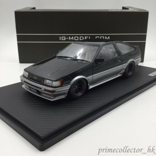 Ignition Models 118 Toyota Corolla Levin AE86 3Door GT Apex BlackSil IG0546