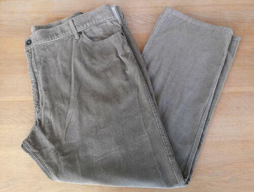 """M/&S Beige Puro Cotone Velluto a Coste Pantaloni 46//50/"""" vita 31/"""" Gamba"""