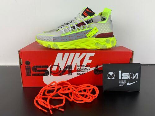Nike react ISPA Platinum tint/Team Red ct2692 002 Runner entrenador cortos 37,5