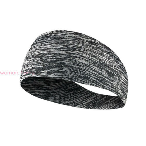 Mens Women Sweatband Headband Yoga Gym Running Sports Stretch Head Band Turban