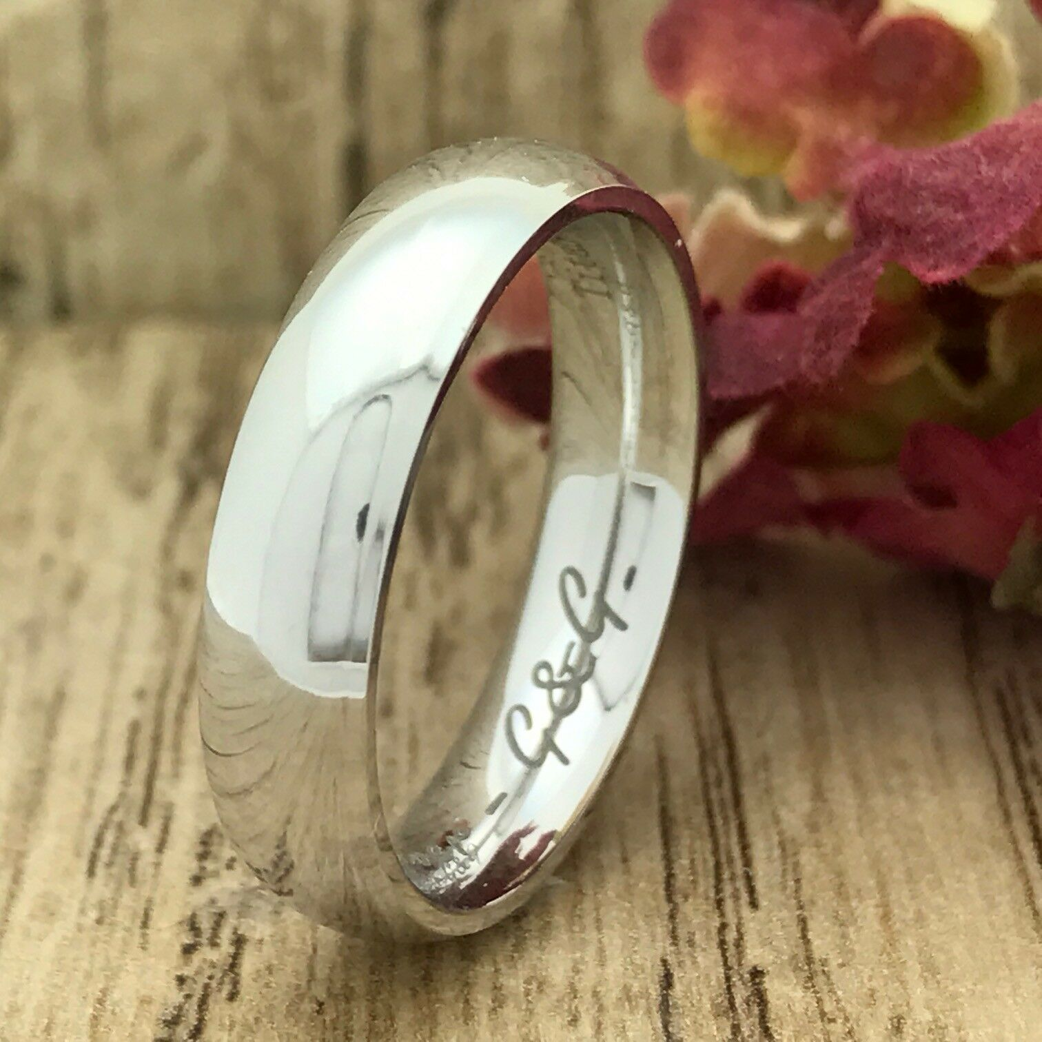 5mm Titanium Ring, Personalized Engraved Titanium Wedding Ring FREE ENGRAVING
