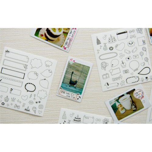 6 Sheets Cartoon Paper Sticker Scrapbook Calendar Diary Planner Decor YL