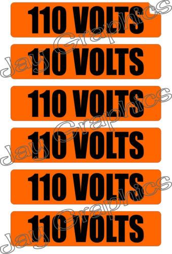 110 Volts Voltage /& Conduit MarkersStickersDecalsLabels Electrical Volt