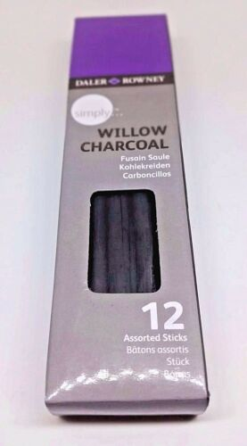 TWO SETS ** Daler Rowney Willow Charcoal ** With 12 Assorted Sticks Per Set