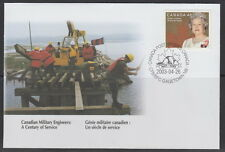 CANADA #S53 CANADIAN MILITARY ENGINEERS (1903-2003) SPECIAL EVENT COVER