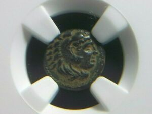 Rare-quarter-unit-of-Alexander-III-The-Great-336-323-BC-Lifetime-NGC-XF-star