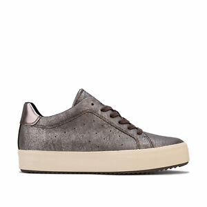 pared Delicioso Equipo  Womens Geox Blomiee High Trainers in chestnut / mud. | eBay
