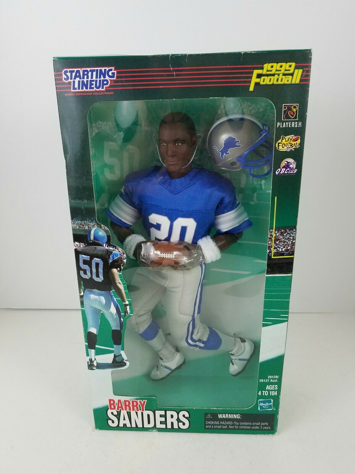 1999 STARTING LINEUP DETROIT LIONS BARRY SANDERS 10