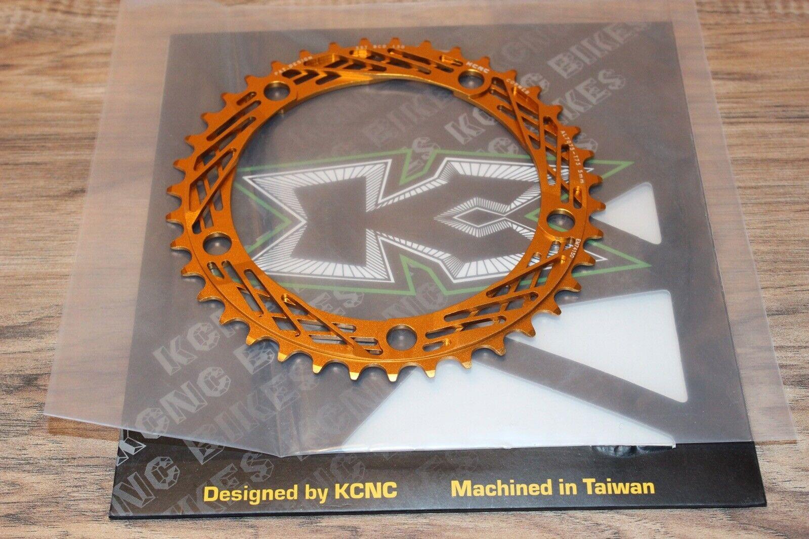 KCNC Cobweb CNC Road Bike Chainring 5 bolt 130 BCD 39T Gold Anodized